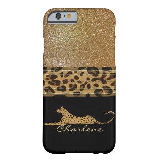 Gold and Black Leopard Custom iPhone 6 Case