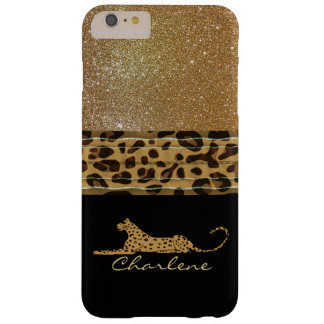 Gold and Black Leopard Custom iPhone 6 Plus Case