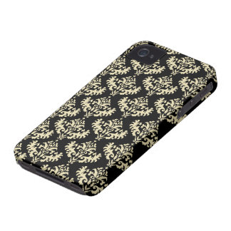 Gold and Black Luxurious Damask Pattern Case-Mate iPhone 4 Case