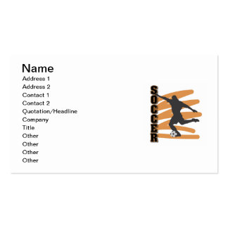 Gold and Black Male Soccer Player T shirts Business Card Template