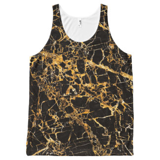 Gold and Black Marble, All-Over Print Tank Top