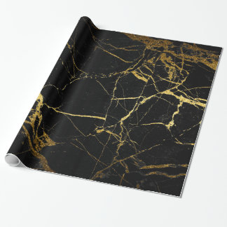 gold and black marble gift wrap