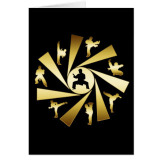 GOLD AND BLACK MARTIAL ARTS CARDS