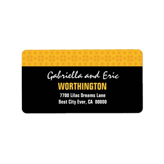Gold and Black Modern Simple A310 Address Label