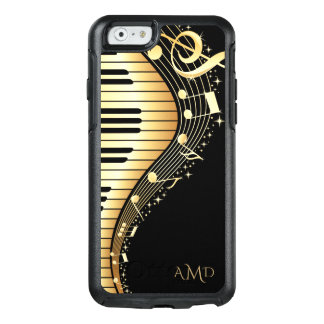 Gold And Black Music Keys OtterBox iPhone 6/6s Case