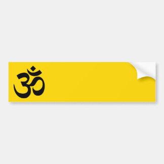 Gold and Black Om Symbol Bumper Sticker