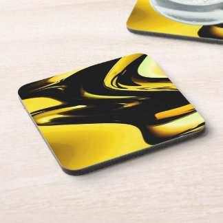 Gold And Black Pop Art Coaster
