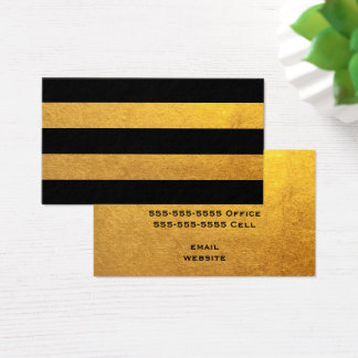 Gold and Black Stripe Business Card