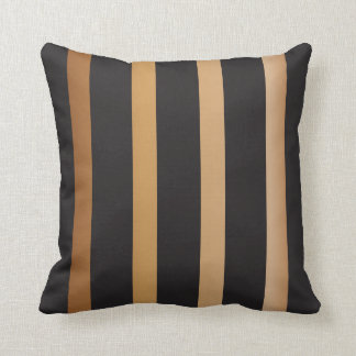 Gold and Black Striped Pattern Cushion