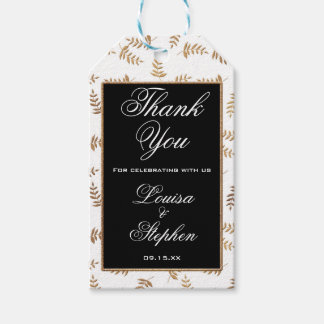 Gold and Black Thank You Tags