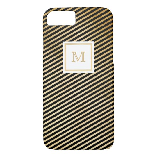 Gold and Black Tiny striped Phone case