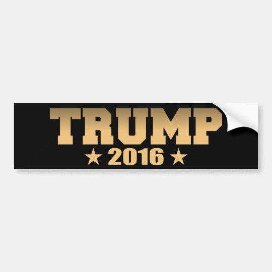 Gold and Black Trump 2016 Bumper Sticker