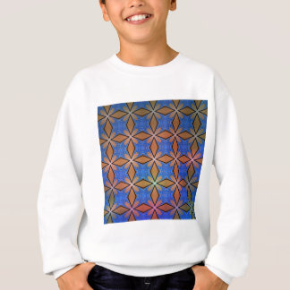 Gold And Blue Diamond Crosses Sweatshirt