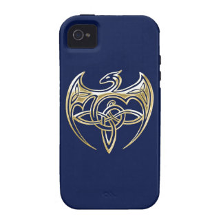Gold And Blue Dragon Trine Celtic Knots Art Case-Mate iPhone 4 Cases
