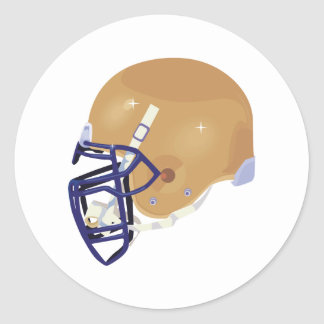 gold and blue football helmet vector graphic round sticker