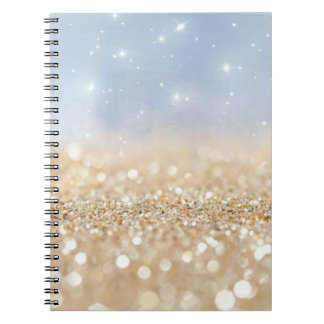 Gold and Blue Glitter Notebooks