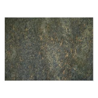 Gold and blue granite 13 cm x 18 cm invitation card