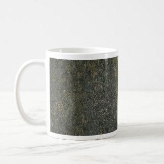 Gold and blue granite basic white mug
