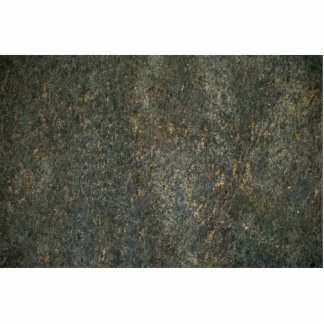 Gold and blue granite standing photo sculpture