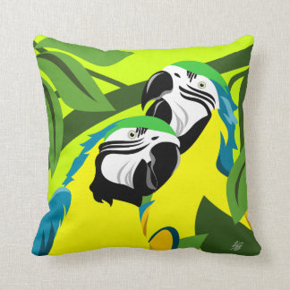 Gold And Blue Macaws Cushion