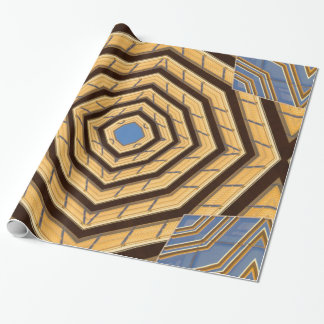 Gold and Blue Wrapping Paper