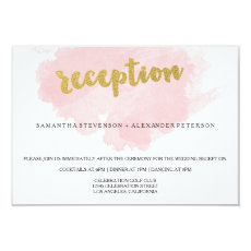 Gold and Blush Watercolor Wedding Reception