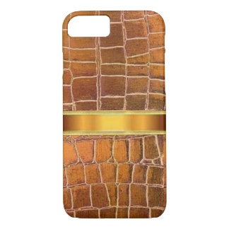 Gold and Bronze Leather Skin Texture iPhone 7 Case
