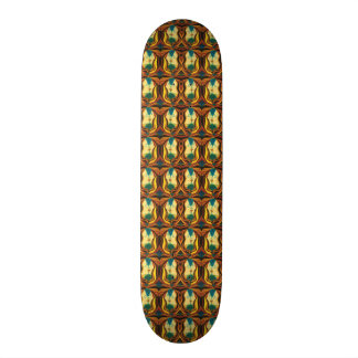Gold And Brown Couples Pattern 21.3 Cm Mini Skateboard Deck
