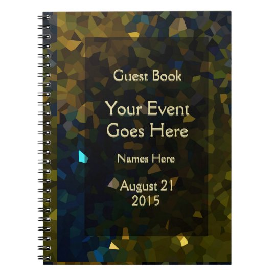 Gold and Brown Crystal Guest Book