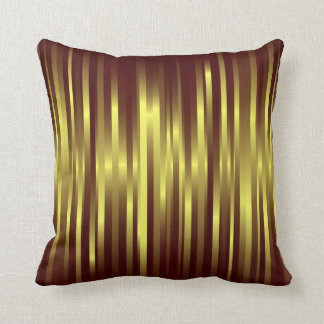 Gold and brown pillow