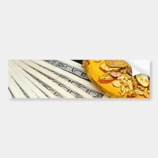 Gold And Cash Bumper Sticker