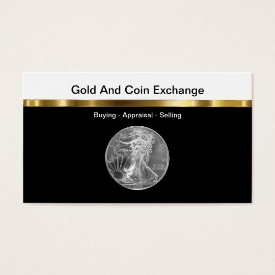 Gold And Coin Collecting Business Card