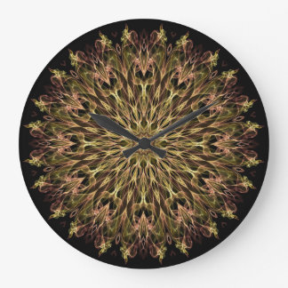 Gold and Copper Kaleidoscope Clocks