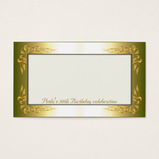 Gold and cream Name Place Cards