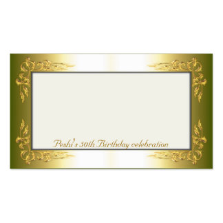 Gold and cream Name Place Cards Pack Of Standard Business Cards