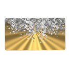Gold and faux glitter personalised