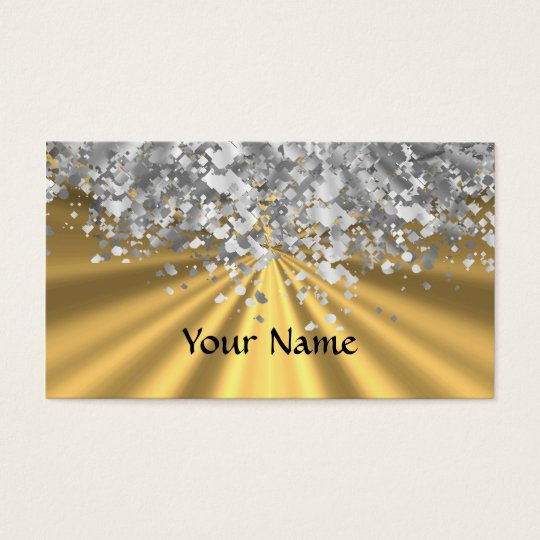 Gold and faux glitter personalised business card