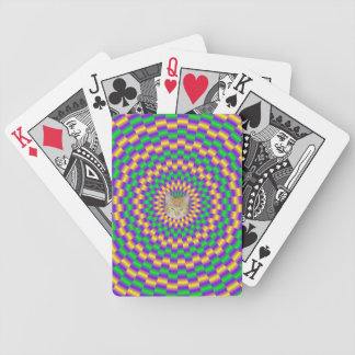 Gold and Green Links + Cat Bicycle Playing Cards