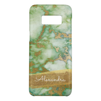 Gold and Green Marble with Gold Foil and Glitter Case-Mate Samsung Galaxy S8 Case
