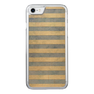 Gold and Grey Stripes Pattern Carved iPhone 8/7 Case