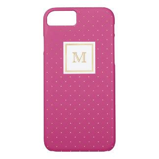 Gold and hot pink Polka Dot Phone case