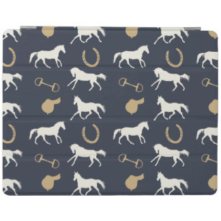 Gold and Ivory English Horses Pattern iPad Cover