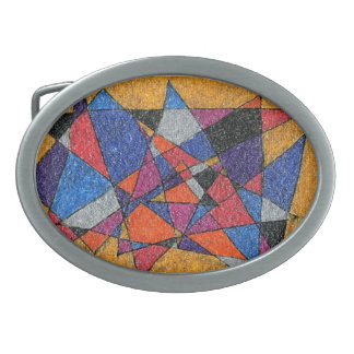 """""""Gold and Jewels"""" Abstract Design Belt Buckle"""