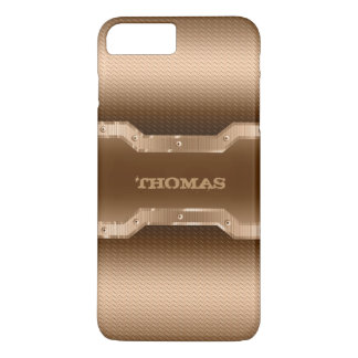 Gold And Light Brown Brushed Metal Look iPhone 8 Plus/7 Plus Case