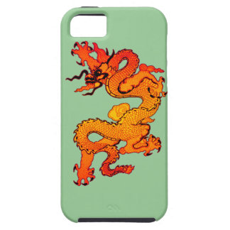 Gold and Orange Dragon for Chinese New Year iPhone 5 Cases