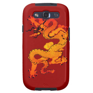 Gold and Orange Dragon for Chinese New Year Galaxy S3 Cases