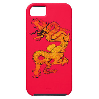 Gold and Orange Dragon for Chinese New Year iPhone 5 Case