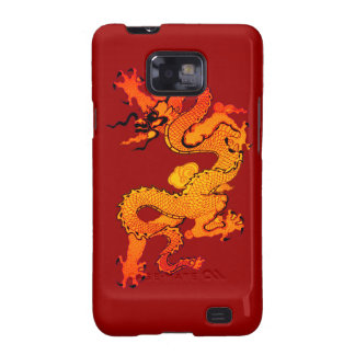 Gold and Orange Dragon for Chinese New Year Samsung Galaxy SII Cover