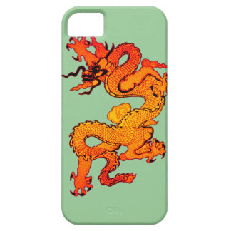 Gold and Orange Dragon for Chinese New Year iPhone 5 Covers