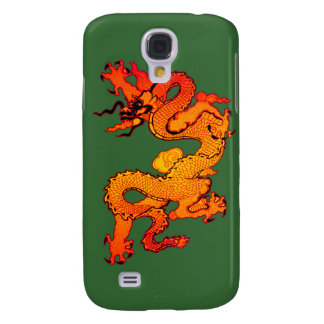 Gold and Orange Dragon for Chinese New Year Galaxy S4 Case